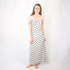 CAROLINA HERRERA Couture PolkaDot Strapless Dress